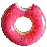 CARL's store Bouée Donut, Anneau de Natation Gonflable Bouee Gigantesque Donut Bague De Natation pour Les Adolescents et Adultes Bouée d'été Eau Jouet,47inch (Rose)
