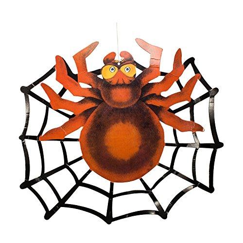 Papier Laternen Halloween Zubita 3D Große Spinne Anhänger Papierlampen für Halloween Party Dekorationen Falten von (Frankenstein Einfach Kostüm)