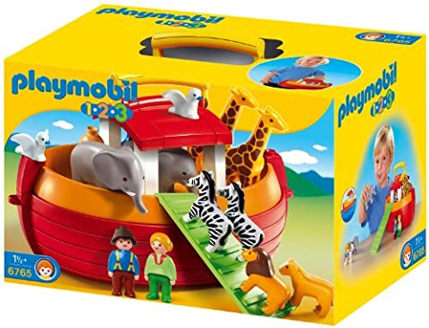 Playmobil 1.2.3 - 6765 - Arche de Noé transportable(1 an et demi +) - Animali