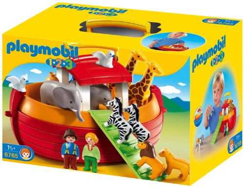 Playmobil 1.2.3 - 6765 - Arche de Noé transportable(1 an et demi +)