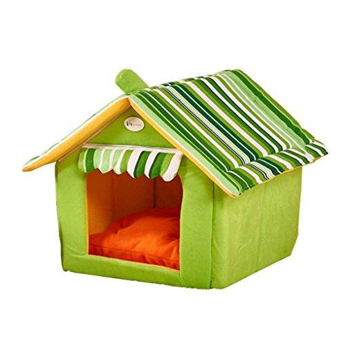 Lorjoy Camas para Perros de Rayas Cubierta extraíble Estera de la casa del Perro para Perros medianos Pequeño Gato Cama del Animal doméstico