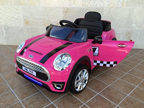 COCHE ELECTRICO MINI LUXE STYLE 12V PEKECARS PINK