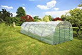 Römi® 10 Gewächshaussystem: 3,5m x 10m x 2,35m, Foliengewächshaus Gewächshaus Treibhaus Folienzelt Folientunnel Tomatenhaus