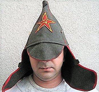 Budjonny Mütze, Rote Armee, Russland, Sowjetunion,Fasching , Karneval. Putin,Moskau,...