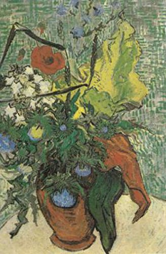 Wild Flowers and Thistles in a Vase,Vincent Van Gogh,67x47cm Thistle Vase