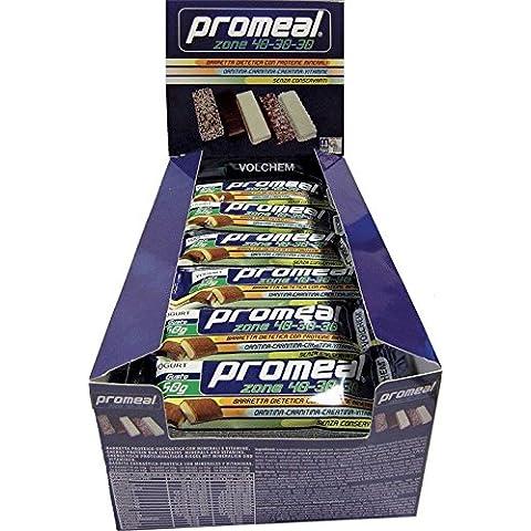 PROMEAL ZONE 40-30-30 - Volchem -BARRETTA DIETA A ZONA- 24 barrette da 50 grammi gusti (Ripartizione Proteine )
