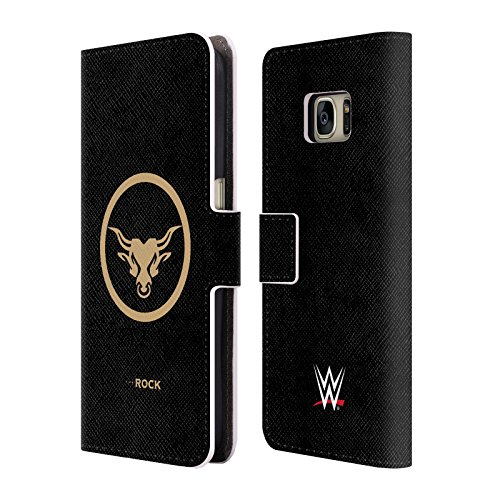 official-wwe-golden-brahma-bull-the-rock-leather-book-wallet-case-cover-for-samsung-galaxy-s7