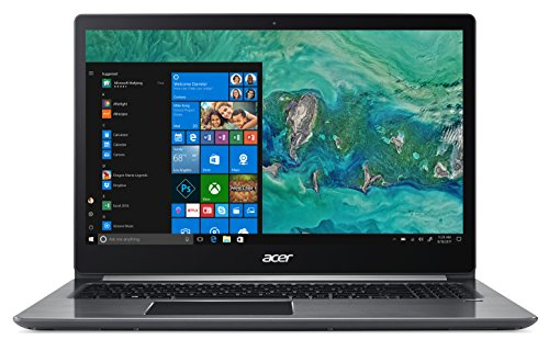"Acer Swift 3 SF315-41-R44J Notebook con Processore AMD Ryzen 5 2500U, Ram 8GB DDR4, 256GB SSD, Display 15.6"" FHD IPS LED LCD, Windows 10 Home, Grigio."