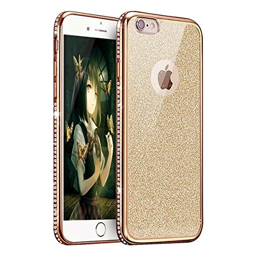 iPhone 8 Plus / 7 Plus 5.5 Zoll Hülle Transparente TPU Silikon Bumper Case Soft Gel Schutzhülle Cover,iPhone 8 Plus 5.5 Zoll Hülle Glitzer Silikon Case für iPhone 7 Plus,iPhone 8 Plus Hülle (5.5 Zoll) Plating TPU 3