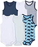 Care Baby - Jungen Achselbody im 3er und 6er Pack Blau (Deep Skye Blue 720), Herstellergröße: 68