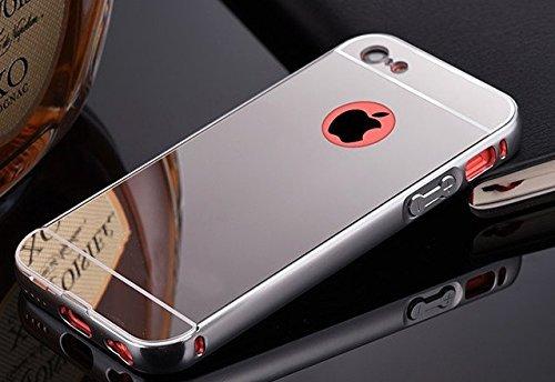 Coque Iphone 5C Aluminium Miroir Coloris Argent Etui Housse Bumper Apple