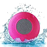 Wireless Stereo Shower Speakers, E LV Portable Waterproof Bluetooth Wireless Stereo Shower Speakers,Kid-friendly – Best for Bath, Pool, Car, Beach, Indoor/Outdoor Use – [RED]