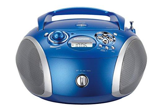 Grundig GRB 2000 Tragbare Radio Boombox blau/silber - Boombox Portable Radio
