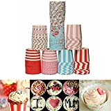 Bluelover 100 Pcs Papier Mini Muffin Cupcake Coupe Liners