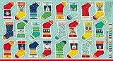 Andover Neuheit Weihnachten Mini Weihnachtsstrumpf 23,5in Panel Bright Stoff