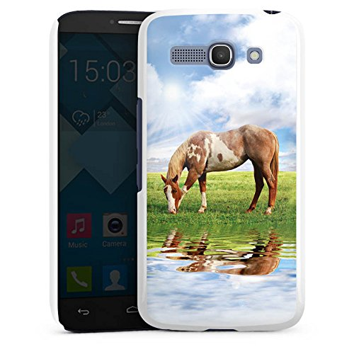 DeinDesign Alcatel One Touch Pop C9 Hülle Schutz Hard Case Cover Ponny Pferd Stute