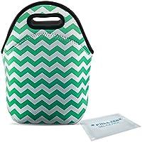 tagvo neopreno para el almuerzo con acumulador Lunch Bag para niños Escuela Bolsa nevera para mujer Picnic kurzreise trabajo verde