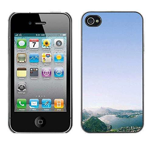 Graphic4You Monaco Postkarte Ansichtskarte Design Harte Hülle Case Tasche Schutzhülle für Apple iPhone 4 und 4S Design #2