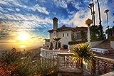QAZZSF Malen Nach Zahlen Für Erwachsene Und Kinder DIY Ölgemälde Geschenksets Vorgedruckte Leinwandbilder Home Decoration - Sunset at Hearst Estate 40X50CM