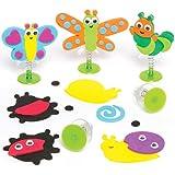 """Bastelsets """"Insekten"""" für Kinder mit Hüpffunktion – Perfekt als Geschenk Oder als Kleine Party-Überraschung für Kinder (6 Stück)"""