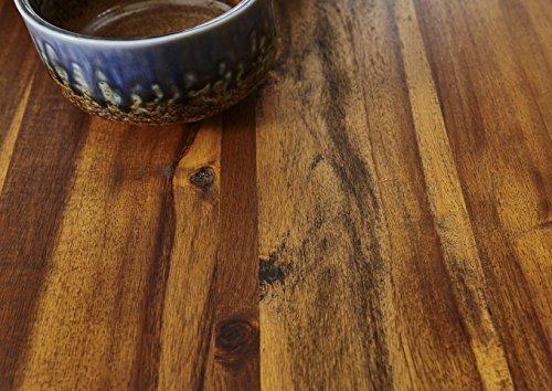 SAM® Stilvoller Esszimmertisch Ida aus Akazie-Holz, Baumkantentisch mit lackierten Beinen aus Roheisen, naturbelassene Optik mit Einer Baumkanten-Tischplatte, 180 x 90 cm - 6