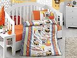 100% Baumwolle weich und gesund Babybett Bed Bettbezug Set, Piraten Schatz Website unter dem Motto, 4 Teilig