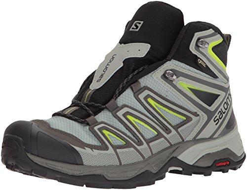 Salomon Herren X Ultra 3 Mid GTX Trekking- & Wanderstiefel, Grau (Beluga/Shadow/Lime Green 000), 42 EU - 2 Mid Skate Schuhe