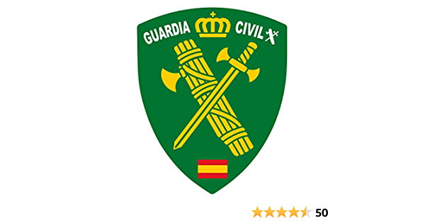 Artimagen Aufkleber Wappen Pico Logo Guard Civil 40 X 60 Mm Auto