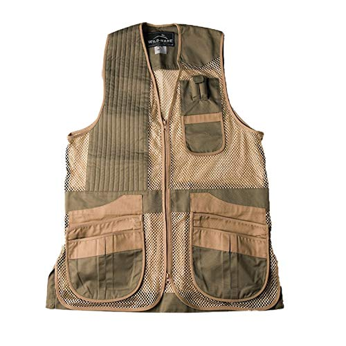 Wild Hase Shooting Gear Heatwave Weste - Salbei und Khaki, Sage and Khaki Sporting Clays Shooting Vest