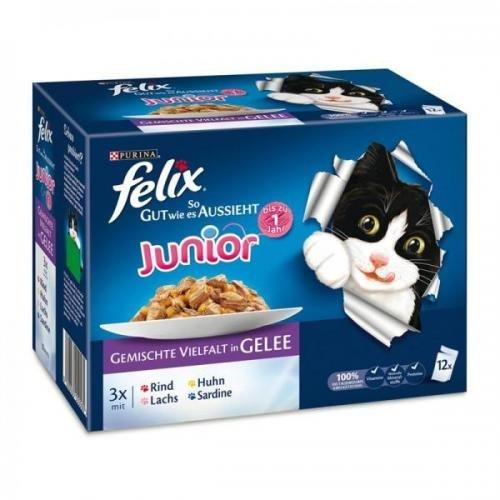 katzeninfo24.de 6 x Felix Multipack So gut wie es ausssieht – Junior 12x100g, Nassfutter, Katzenfutter