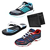 #10: Earton Men Combo Pack of 4 Sports Shoe With Wallet & Slipper