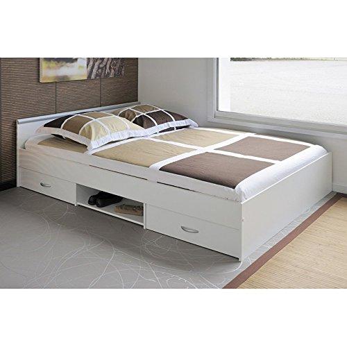 Parisot Bett 140 x 200 cm Weiss