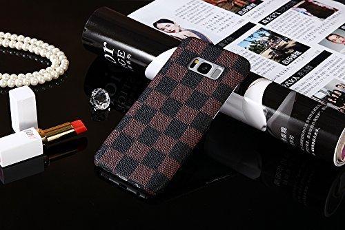 Heil S8Classic (Schnell Uns Liefern Garantie Erfüllt von Amazon) Neuen Eleganten Luxus PU Leder Wallet Style Flip Cover Fall für Samsung Galaxy S8S 8Nur, Brown TPU