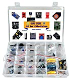 #7: Quad Store(TM) - 46 in 1 Sensor Modules Kit for Arduino Uno R3, Mega 2560, Raspberry Pi (37 in 1 + additional modules)