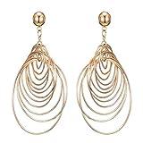 Runde große Kreis Gold Vintage baumeln Ohrringe Metall Party Statement Charm Billig lange Ohrringe