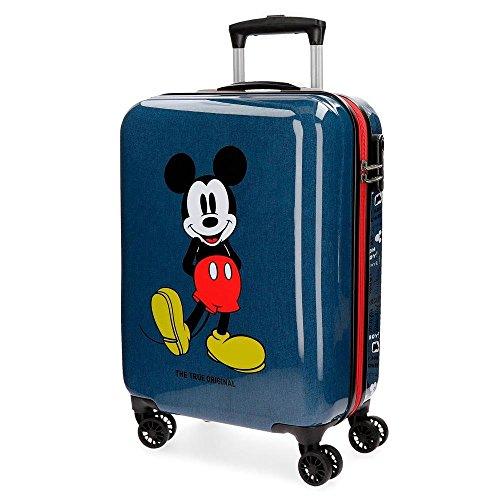 Disney topolino 4371761 valigia bambini, trolley da cabina, 55 centimetri, 33 litri, blu