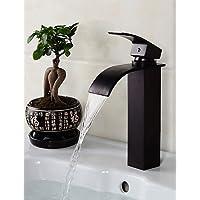 Contemporary Bronze Un foro singola maniglia Bagno olio strofinato Sink Faucet