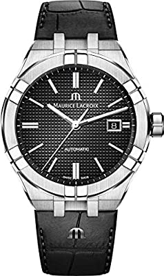 Maurice Lacroix Aikon Gents Automatic Watch, 42 mm, Black, AI6008-SS001-330-1