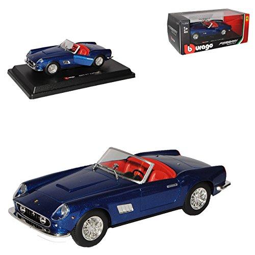 Bburago Ferrari 250 GT Spyder California Cabrio Blau Metallic 1957-1962 1/24 Modell Auto
