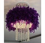 Kristall Deckenlampe, Feder Einfache Durchmesser 40CM modernen Schlafzimmer Storefront romantischen geführt ( Farbe : Lila )