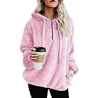 Yvelands Chaqueta Suéter Abrigo Jersey Mujer Invierno Talla Grande Hoodie Sudadera con Capucha Mujer Caliente y Esponjoso Top