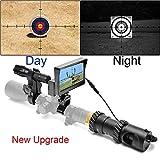 SIHEE Appareil à Vision Nocturne numérique, Version Mise à Jour, pour Fusil de Chasse, avec caméra HD et écran d'Affichage Portable de 5