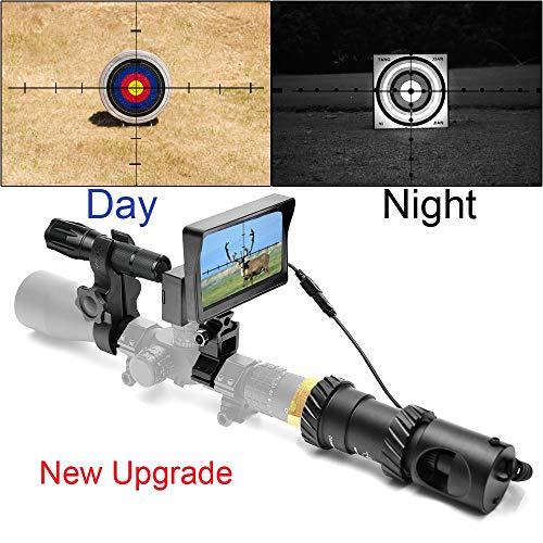 JASHKE [Upgrade] Digitales Nachtsichtgerät für die Jagd nach Gewehren mit HD-Kamera und tragbarem 5-Zoll-Bildschirm