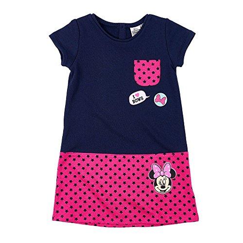(Disney Minnie Kleid, blau-pink, Gr. 104-140 Größe 104)