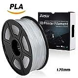 SUNLU 3D Printer Filament PLA,1.75mm PLA Filament, 3D Printing Filament Low Odor, Dimensional Accuracy +/- 0.02 mm, 2.2 LBS (1KG) Spool 3D Filament for 3D Printers & 3D Pens, transparent PLA