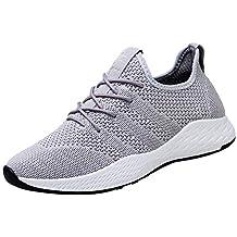 Tefamore Hombre Zapatos para Correr Transpirables Resistente Running Zapatillas de Deporte Antideslizante Casual Sneakers