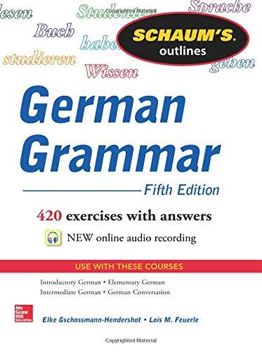 Schaum's Outline of German Grammar, 5th Edition (Schaum's Outlines) Speaker-schaum