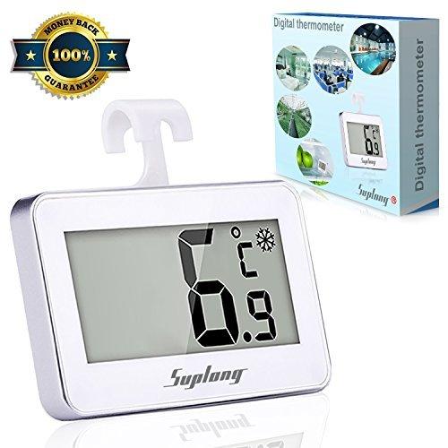 Termómetro digital Termómetro de Frigorífico - Suplong Mini Digital Preciso LCD Refrigerador...