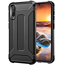 Gerutek Coque Samsung Galaxy A50, [ Anti-Choc et Anti-Rayure] [Solide & Incassable] Air Cushion Protection Housse, Ultra Slim Premium Dual Layer Silicone TPU+PC Etui pour Samsung Galaxy A50, Noir