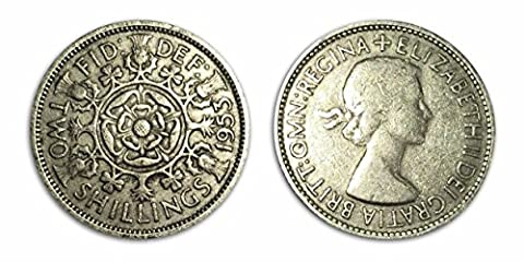 Sammelbare Münzen - 1953 Circulated Florin Two Shilling Two Bob Bit / UK / Großbritannien